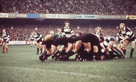 Partido All Blacks -Barbarians 1973, fuente: www.guardian.co.uk