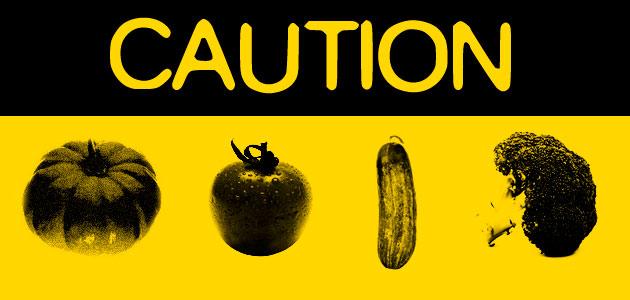 peligro verdura